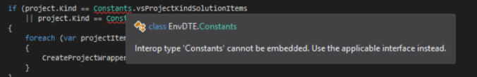 EnvDte.Constants Issue
